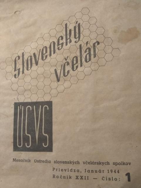 Slovensky Vcelar 1944