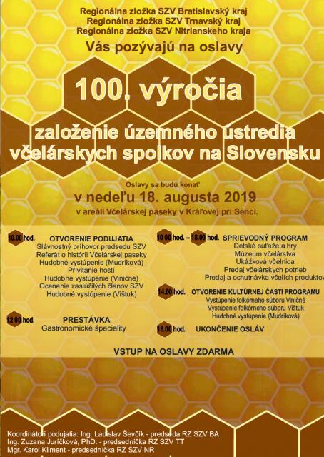 program oslav 100 vyrocia
